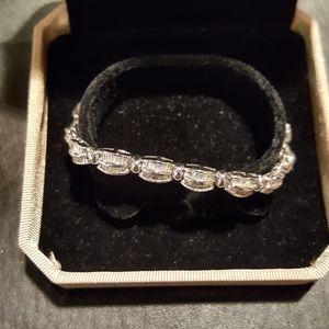 Silver & CZ Dominique tennis style bracelet